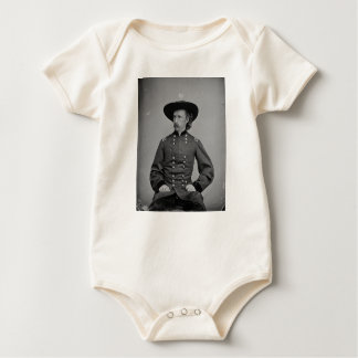 General George Armstrong Custer by Mathew Brady Baby Bodysuit