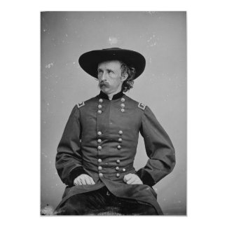 General George Armstrong Custer by Mathew Brady Card
