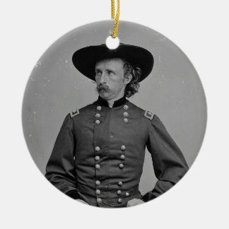 General George Armstrong Custer by Mathew Brady Ceramic Ornament