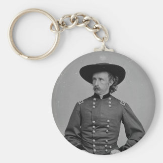 General George Armstrong Custer by Mathew Brady Basic Round Button Keychain
