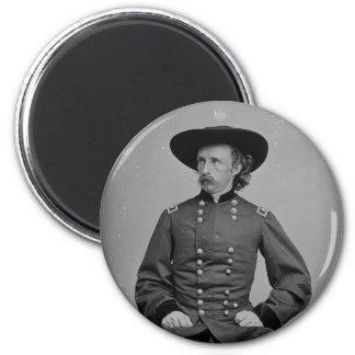 General George Armstrong Custer de Mathew Brady Imán Redondo 5 Cm