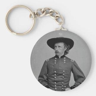 General George Armstrong Custer de Mathew Brady Llavero Redondo Tipo Pin