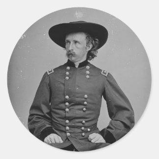 General George Armstrong Custer de Mathew Brady Pegatina Redonda