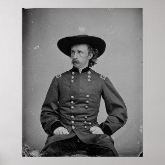 General George Armstrong Custer de Mathew Brady Póster