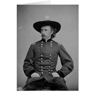 General George Armstrong Custer de Mathew Brady Tarjeta De Felicitación