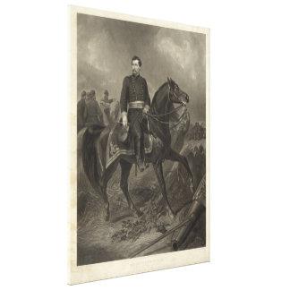 General George B. McClellan at Battle of Antietam Canvas Print