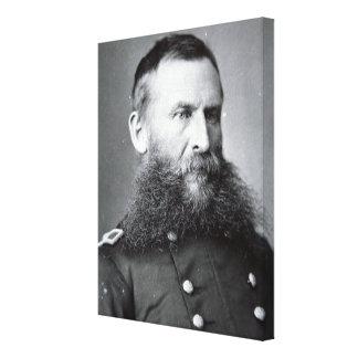 General George Crook (b/w photo) Canvas Print