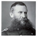 General George Crook (b/w photo) Large Square Tile