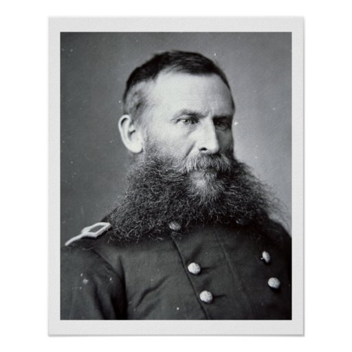 General George Crook (b/w photo) Poster
