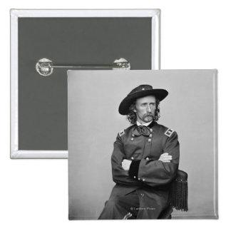 General George Custer 1 Pin Cuadrado