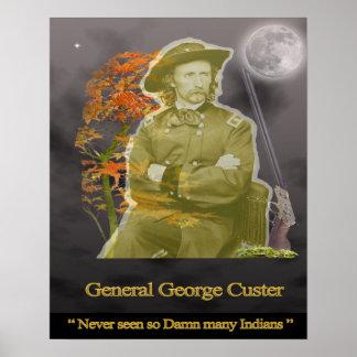 General George Custer Ghost Humor Póster