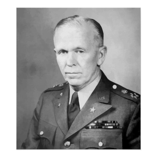 General George Marshall Poster