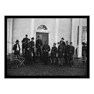 General George Meade and Staff in VA 1863 Poster
