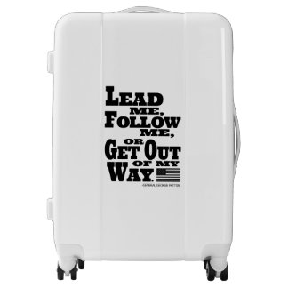 General George Patton Quote Suitcase Luggage