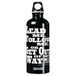 General George Patton Quote Traveller Aluminum Water Bottle