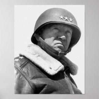 General George Patton -- WW2 Poster