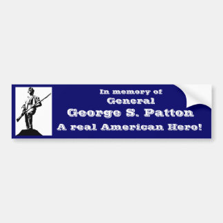 General George S. Patton Car Bumper Sticker