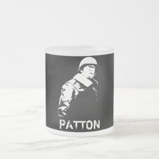 General George S. Patton Jr. 10 Oz Frosted Glass Coffee Mug