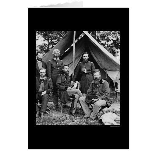 General George Stoneman & Staff at Fair Oaks 1862 Cards
