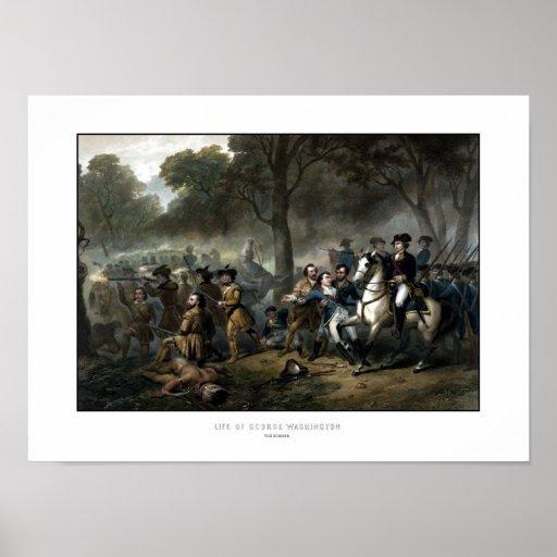 General George Washington en batalla Posters