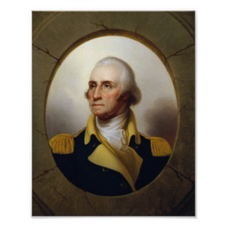 General George Washington Porthole Painting Poster