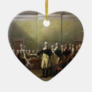 General George Washington Resigning His Commission Ceramic Ornament