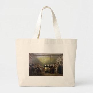 General George Washington Resigning His Commission Large Tote Bag