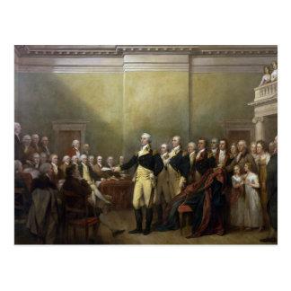 General George Washington Resigning His Commission Postcard