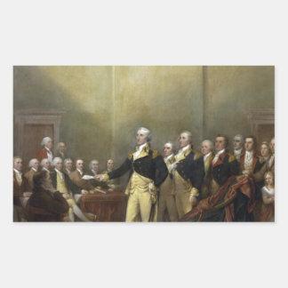 General George Washington Resigning His Commission Rectangular Sticker