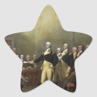 General George Washington Resigning His Commission Star Sticker