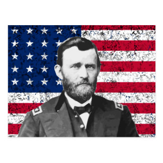 General Grant and The American Flag Postcards