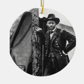 General Grant Double-Sided Ceramic Round Christmas Ornament