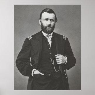 General Grant durante la guerra civil Póster
