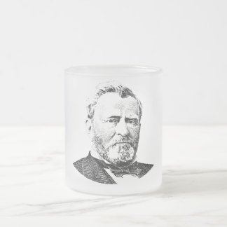 General Grant Frosted Glass Coffee Mug