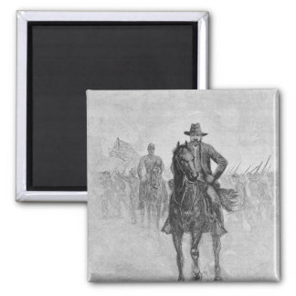 General Grant reconnoitering 2 Inch Square Magnet