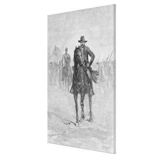 General Grant reconnoitering Canvas Print