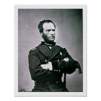 General Guillermo T. Sherman (1820-91) (foto de b/ Póster
