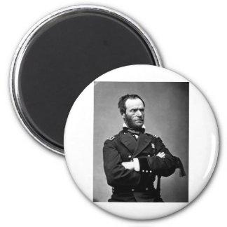 General Guillermo TECUMSEH Sherman, 1865. Imán Redondo 5 Cm