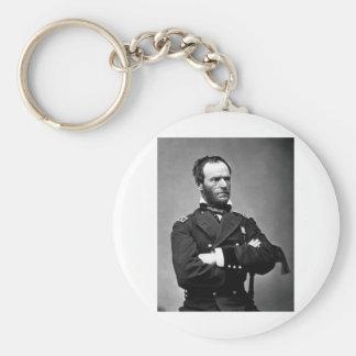 General Guillermo TECUMSEH Sherman, 1865. Llavero Redondo Tipo Pin