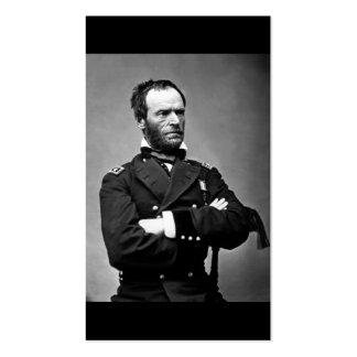 General Guillermo TECUMSEH Sherman, 1865. Tarjetas De Negocios