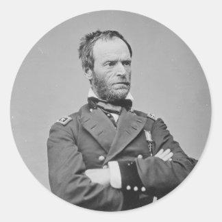General Guillermo TECUMSEH Sherman del Ejército de Pegatina Redonda