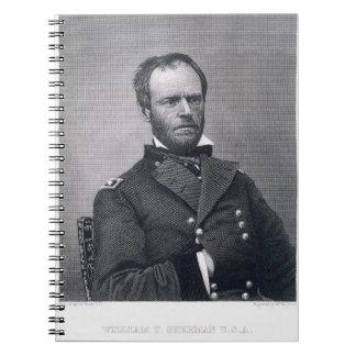 General Guillermo TECUMSEH Sherman, grabado despué Libro De Apuntes Con Espiral