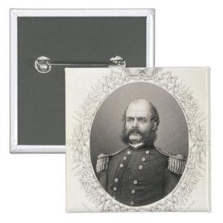 General importante Ambrose Everett Burnside Pin Cuadrado