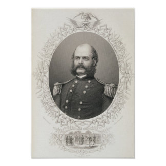 General importante Ambrose Everett Burnside Póster