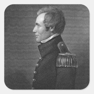 General importante Edmund Pendleton Gaines Pegatina Cuadrada