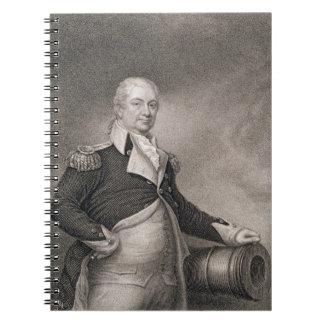 General importante Henry Knox (1750-1806) grabado  Libreta Espiral