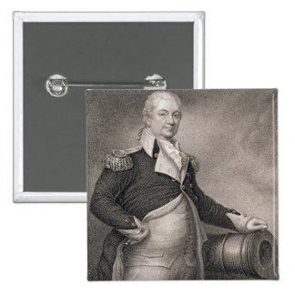 General importante Henry Knox (1750-1806) grabado  Pins