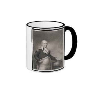 General importante Henry Knox (1750-1806) grabado  Taza A Dos Colores
