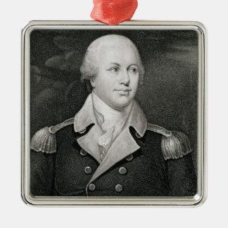 General importante Nathaniel Greene (1742-86), Adorno Navideño Cuadrado De Metal
