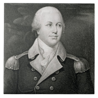 General importante Nathaniel Greene (1742-86), gra Azulejo Cuadrado Grande
